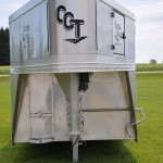 nose of gooseneck aluminum trailer
